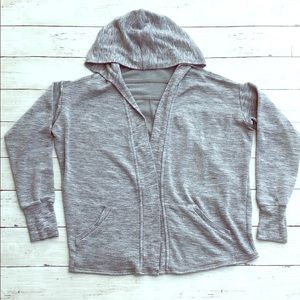 Athleta Girl Soft Gray Wrap Hoodie